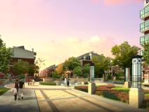 小区广场景观效果图psd素材