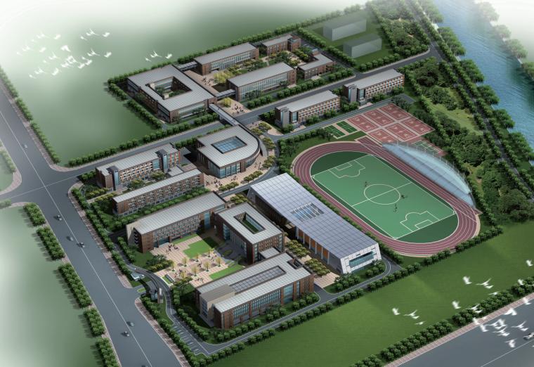 [上海]临港科技学校建筑设计文本(pdf+jpg)