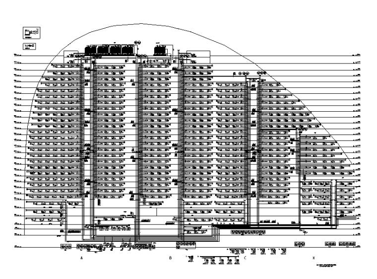 [北京]顶级办公综合建筑暖通空调全套施工图800张(52万平200米)