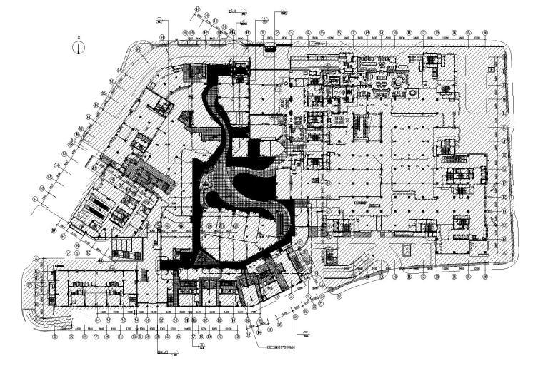 [北京]姜峰-悠唐B区二期商场公共部分室内装饰工程施工图+实景图