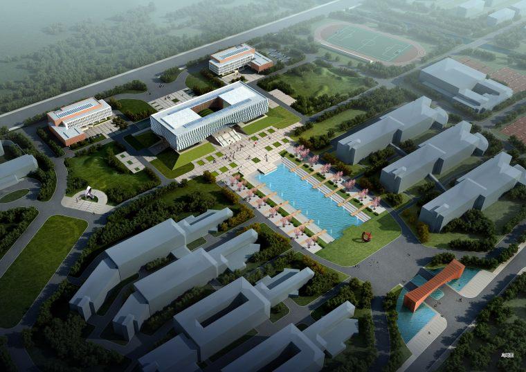 [江苏]南京交通职业技术学院学校建筑方案设计图(JPG+SU)