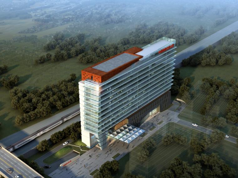 [江苏]15层简约风格办公楼及培训中心建筑设计方案文本