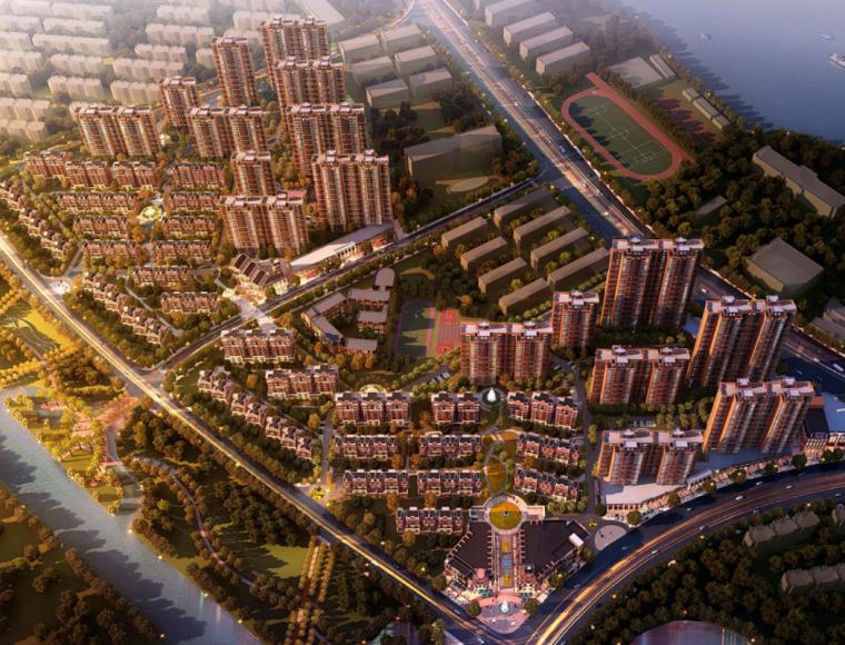 [江西]现代风格混合住宅区规划及单体设计方案文本