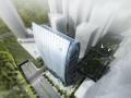 [浙江]横向百叶状幕墙体系证券大厦建筑设计方案文本