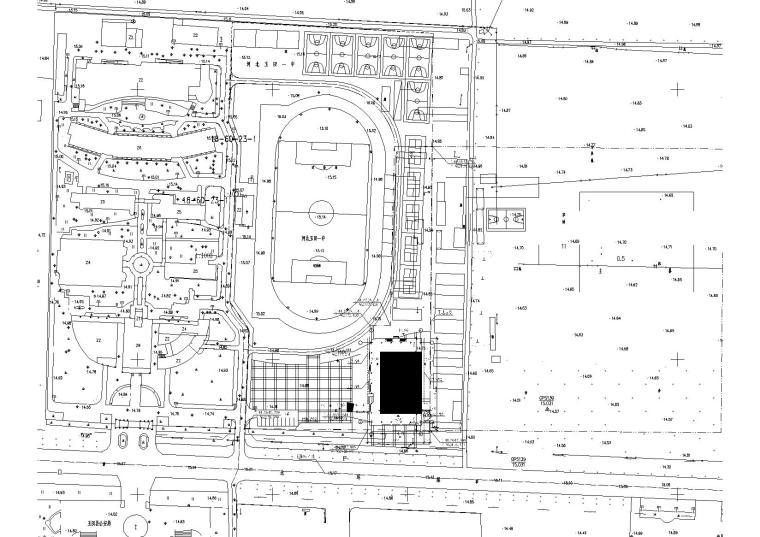 [河北]多层中学体育馆建筑施工图(知名设计院)