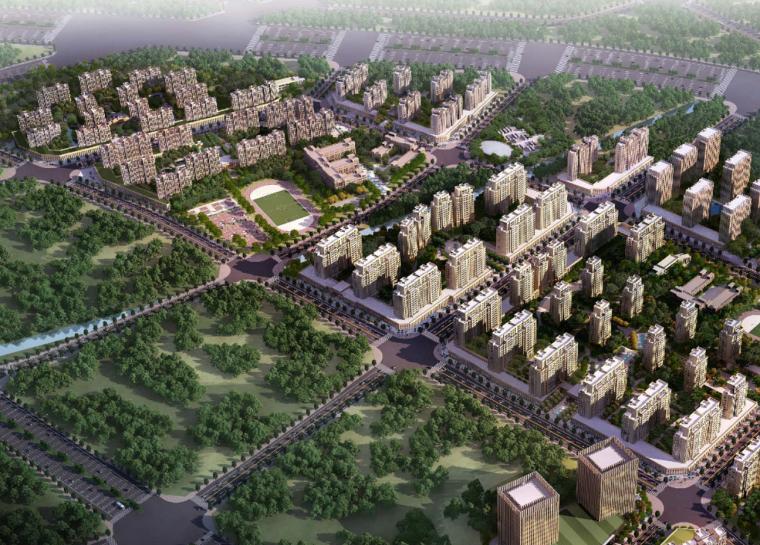 [郑州]欧式风格住宅区规划及单体设计方案文本