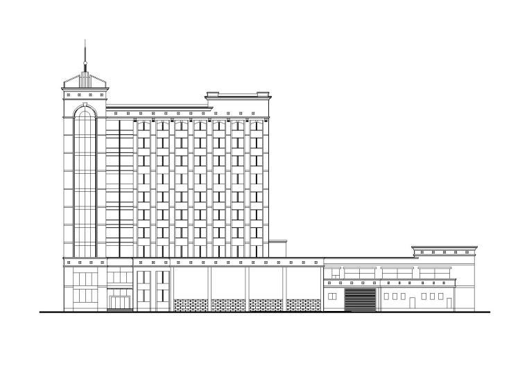 [山西]12层银行大楼办公建筑施工图