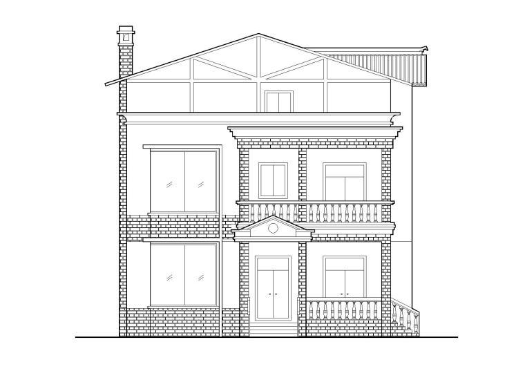 [四川]什邡三层坡屋顶农村住宅建筑施工图