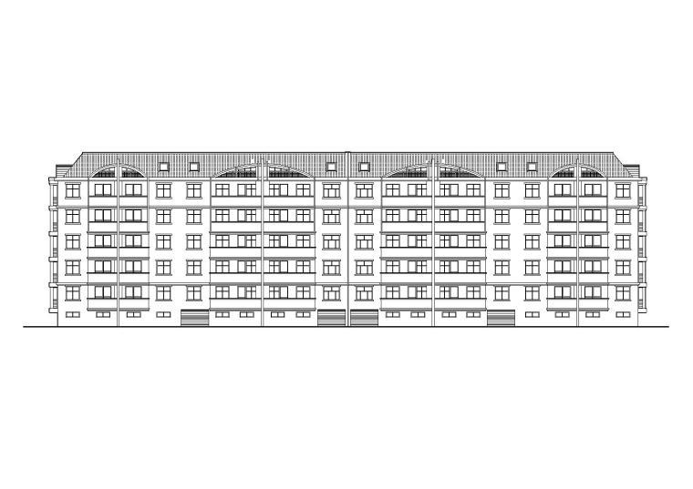 [山东]泰安灌庄社区8号回迁多层住宅楼建筑施工图