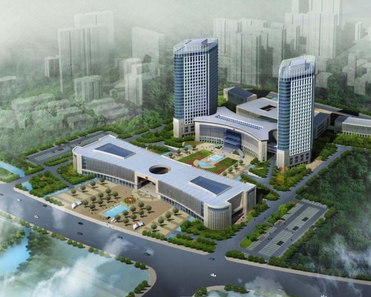 [辽宁]高层现代风格行政办公楼及单体设计方案文本(含CAD)_1