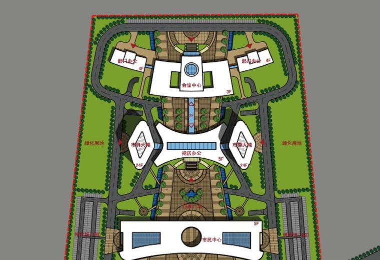 [辽宁]高层现代风格行政办公楼及单体设计方案文本(含CAD)_3