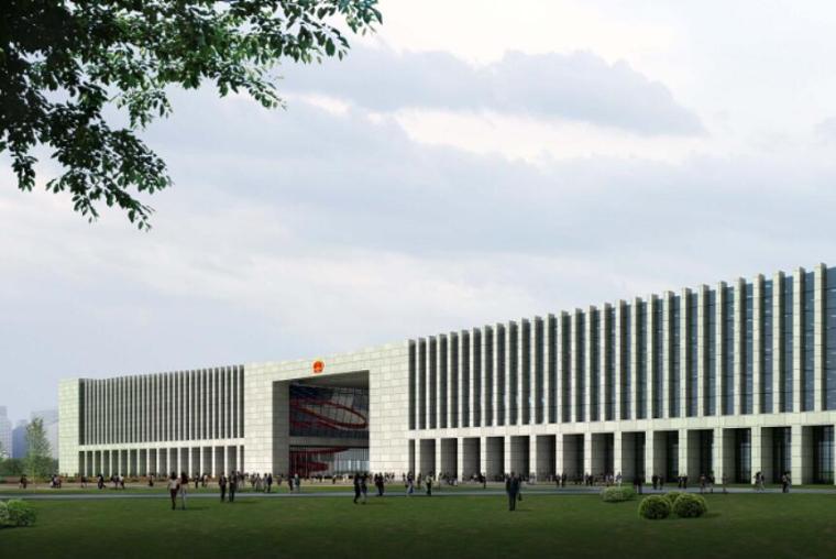 [辽宁]高层现代风格行政办公楼及单体设计方案文本(含CAD)_2