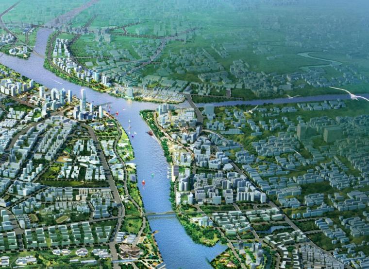 [广东]广州白鹅潭地区滨水活力生活区城市设计方案(广州规划院)