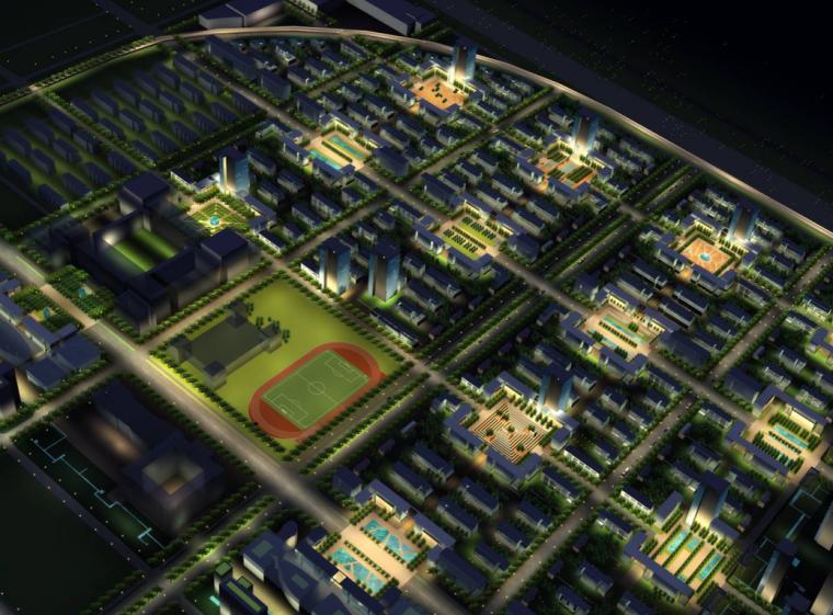 [天津]泰达开放型居住区修建性详细规划设计方案图