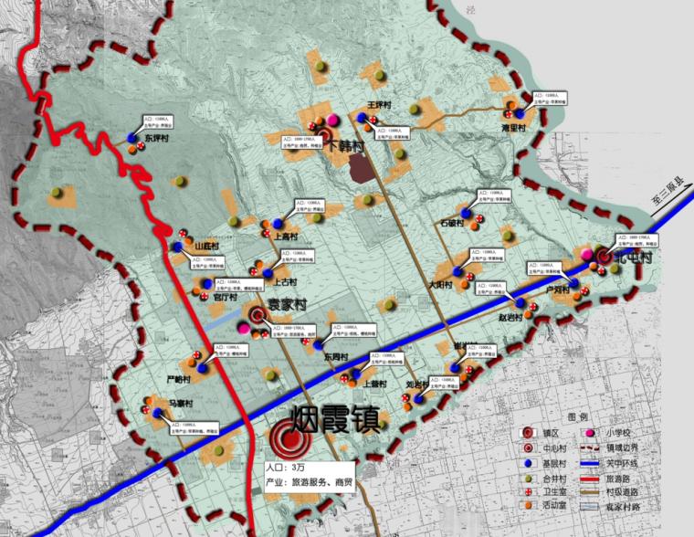 [陕西]咸阳市礼泉县烟霞镇村镇总体规划方案图纸_4