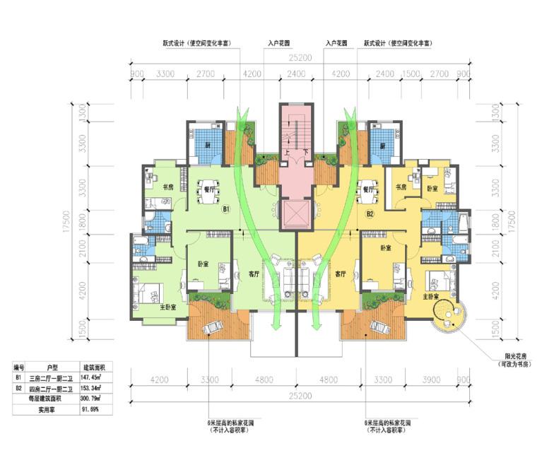 10套住宅户型平面图
