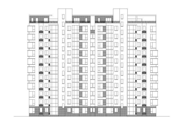 [河北]秀枫山庄两栋小高层居住建筑设计施工图