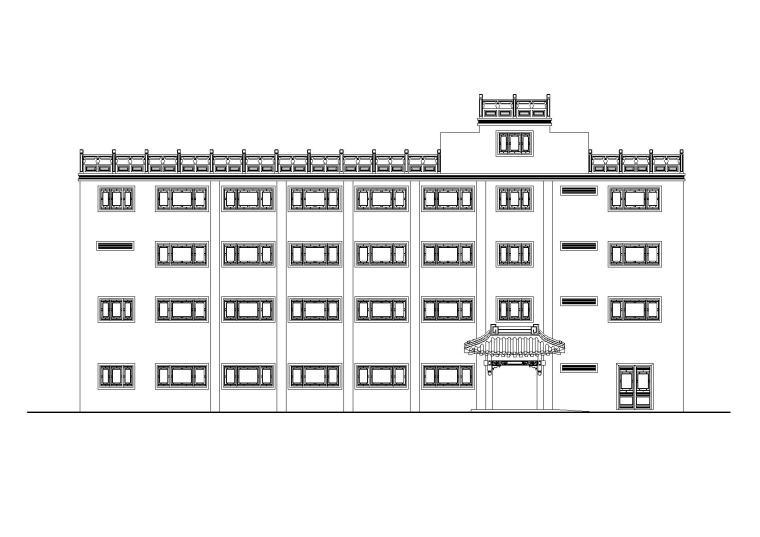 北方某四层中式大酒店建筑设计施工图