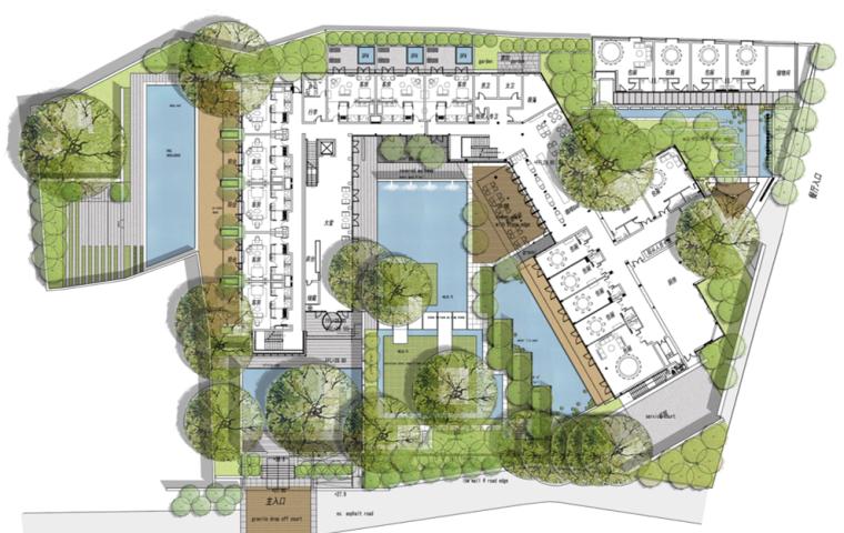 [浙江]杭州九里松度假酒店景观概念设计-张唐(含CAD施工图+实景图)