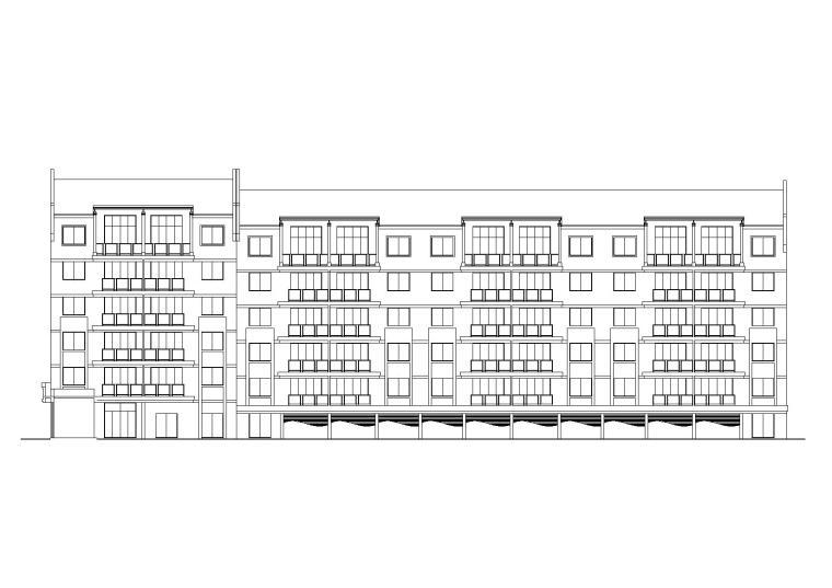 [河北]新民花园住宅小区五层带阁楼居住建筑施工图