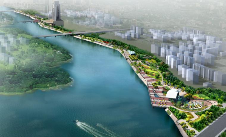 [浙江]金华市城南桥至河盘桥段滨河景观设计竞标方案汇总(四)