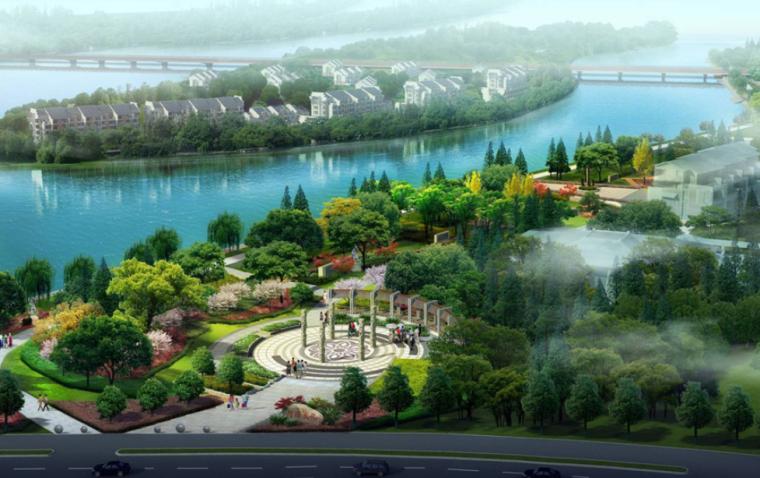 [浙江]金华市城南桥至河盘桥段滨河景观设计竞标方案汇总(二)