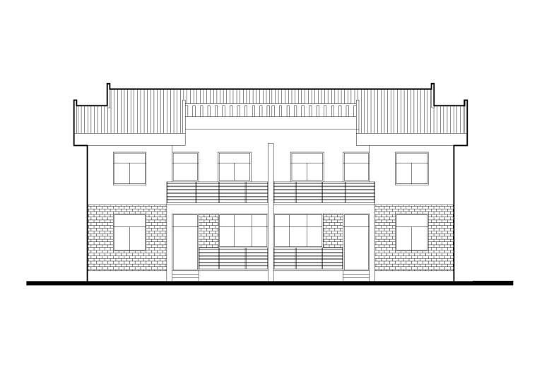 江南村落安居型农村居住建筑设计施工图