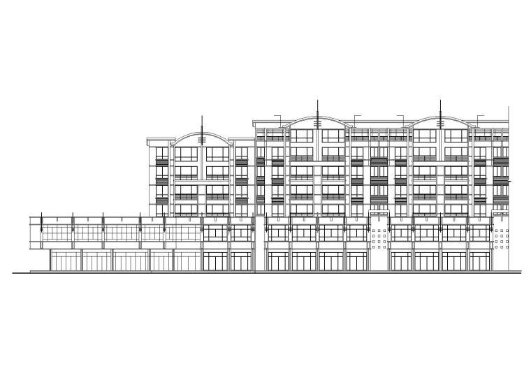 经典六层住宅楼(含两层底商)建筑施工图