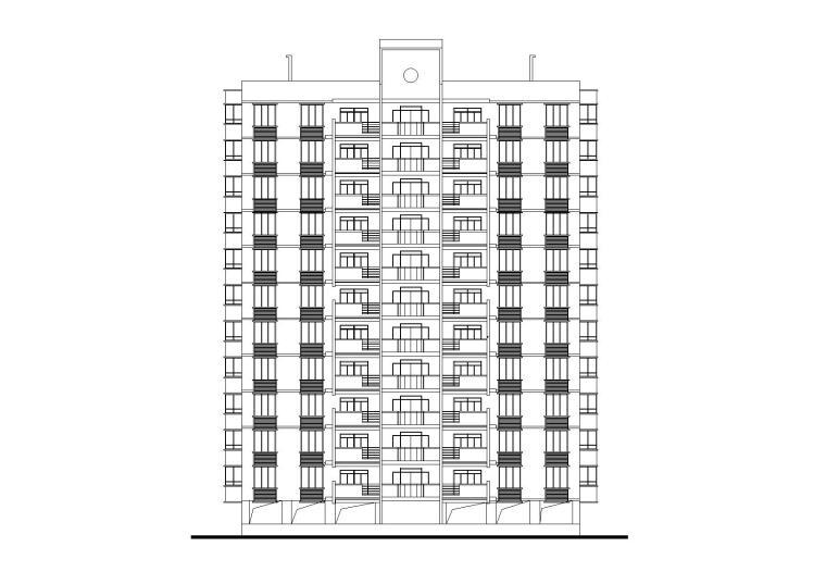 [江西]南昌星港小镇点式小高层住宅楼建筑施工图