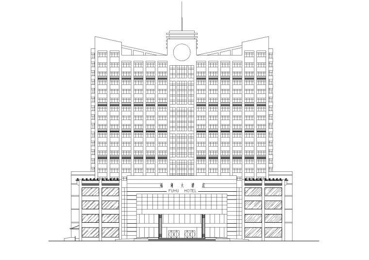 高层酒店建筑设计方案施工图