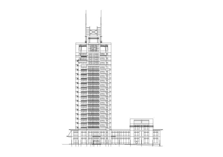 高层写字楼建筑方案施工图