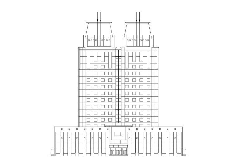 [吉林]高层底商式博士后公寓楼建筑施工图