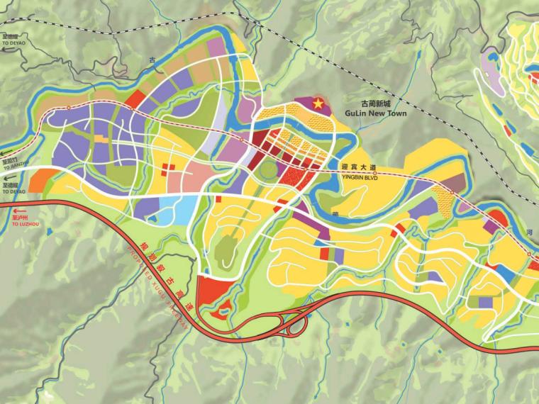[四川]泸州古蔺带状河谷城镇总体规划文本