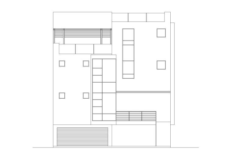 某农村现代四层小户型别墅建筑施工图