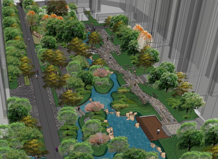[北京]知名地产石佛营新中式高档居住社区景观方案文本-奥雅(含实景照片+SU模型)