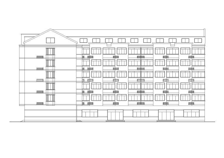 L型多层混居宿舍建筑施工图