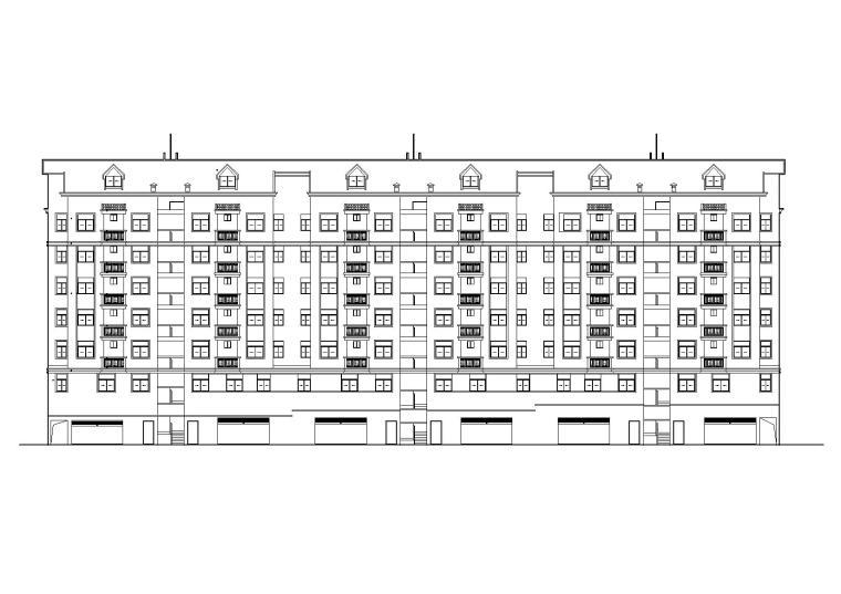 [福建]三明市明溪县多层住宅楼建筑施工图