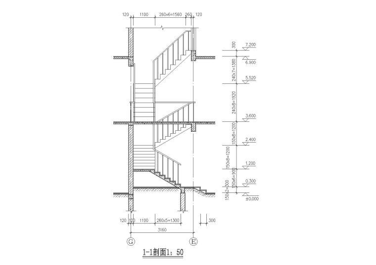 二层阁楼内庭小户型别墅建筑施工图_8