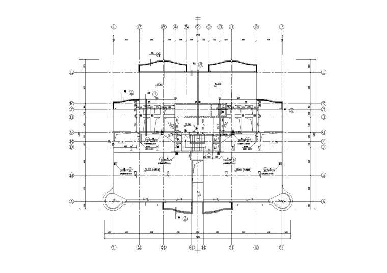 高层一梯四户塔式底商公寓楼建筑施工图_8