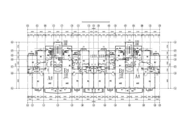 [湖北]武汉阳城景园小区小高层住宅楼建筑施工图_7