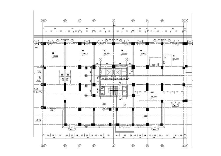 高层一梯四户塔式底商公寓楼建筑施工图_3