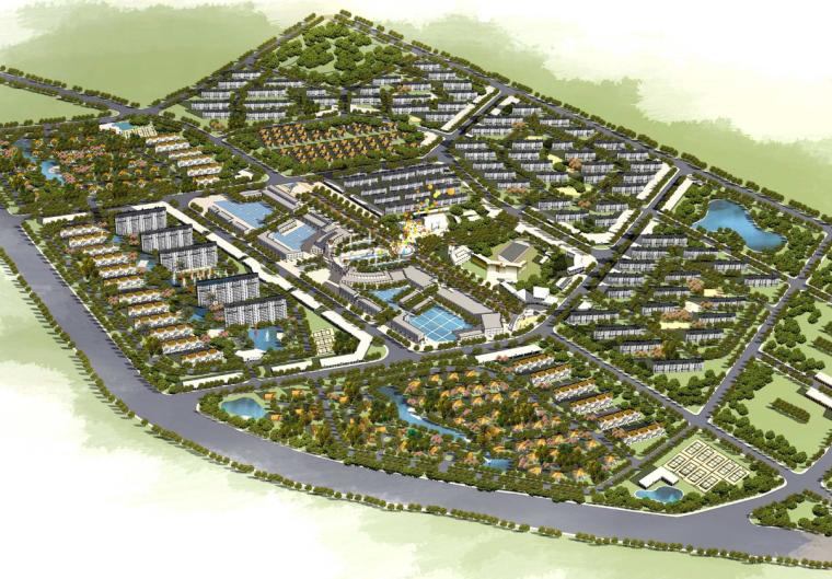 [天津]汉沽杨家泊镇现代渔业生态小镇规划及建筑设计图