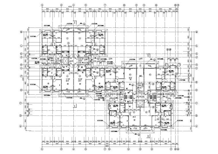 小高层一梯四户住宅楼建筑施工图及大样图_4