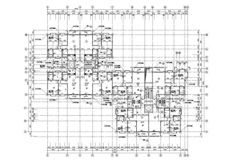 小高层一梯四户住宅楼建筑施工图及大样图_5