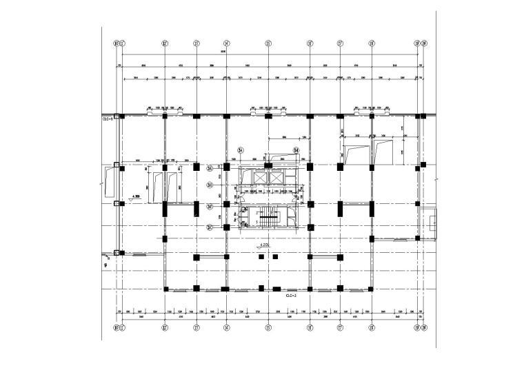 高层一梯四户塔式底商公寓楼建筑施工图_4