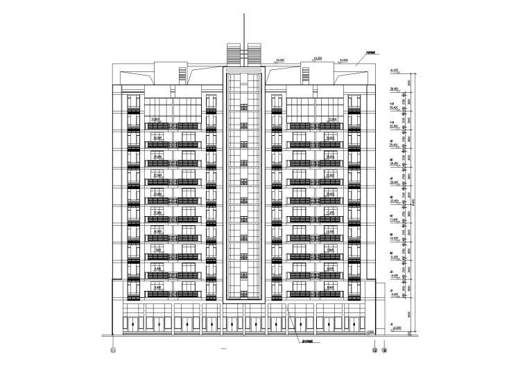 [湖北]武汉阳城景园小区小高层住宅楼建筑施工图_2