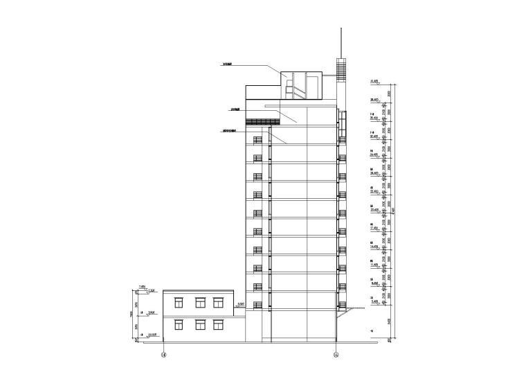 [湖北]武汉阳城景园小区小高层住宅楼建筑施工图_3