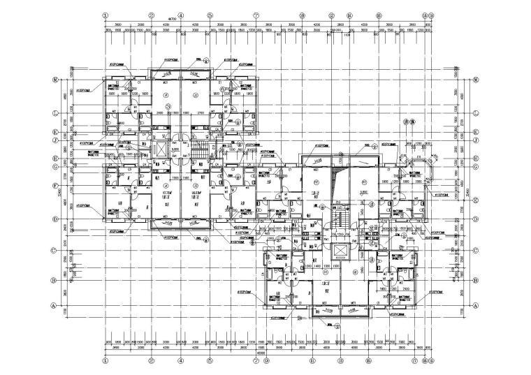 小高层一梯四户住宅楼建筑施工图及大样图_6