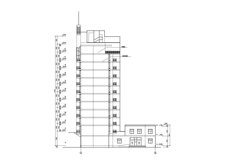 [湖北]武汉阳城景园小区小高层住宅楼建筑施工图_4