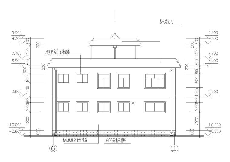 二层阁楼内庭小户型别墅建筑施工图_2